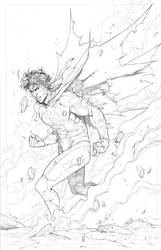 Superboy drawing by Iban Coello by SpaceGoatProductions