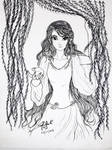 inktober day 24: Her,the Leannn Sidhe by Sanhati-Pal