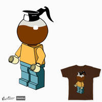 Coffee Lego Man - t-shirt design by cogwurx