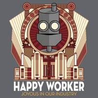 Happy Worker - Joyous in our Industry by cogwurx
