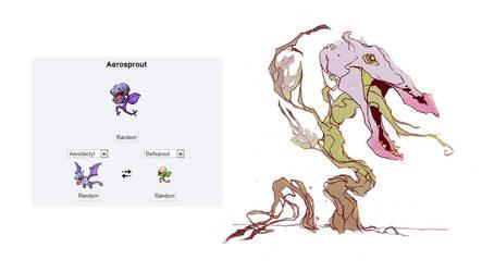 Pokemon fusion - Aerosprout by carlosthemanoflove