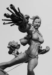 Tank Girl portrait by seankylestudios