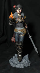 Dragon Age 2:  Female Hawke (painted) by seankylestudios