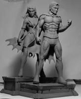 Earth 2 Robin and Huntress by seankylestudios