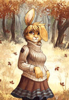Autumn Bunbun by TasDraws