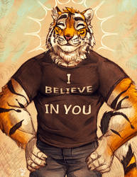 Motivational Tiger Sketch by TasDraws