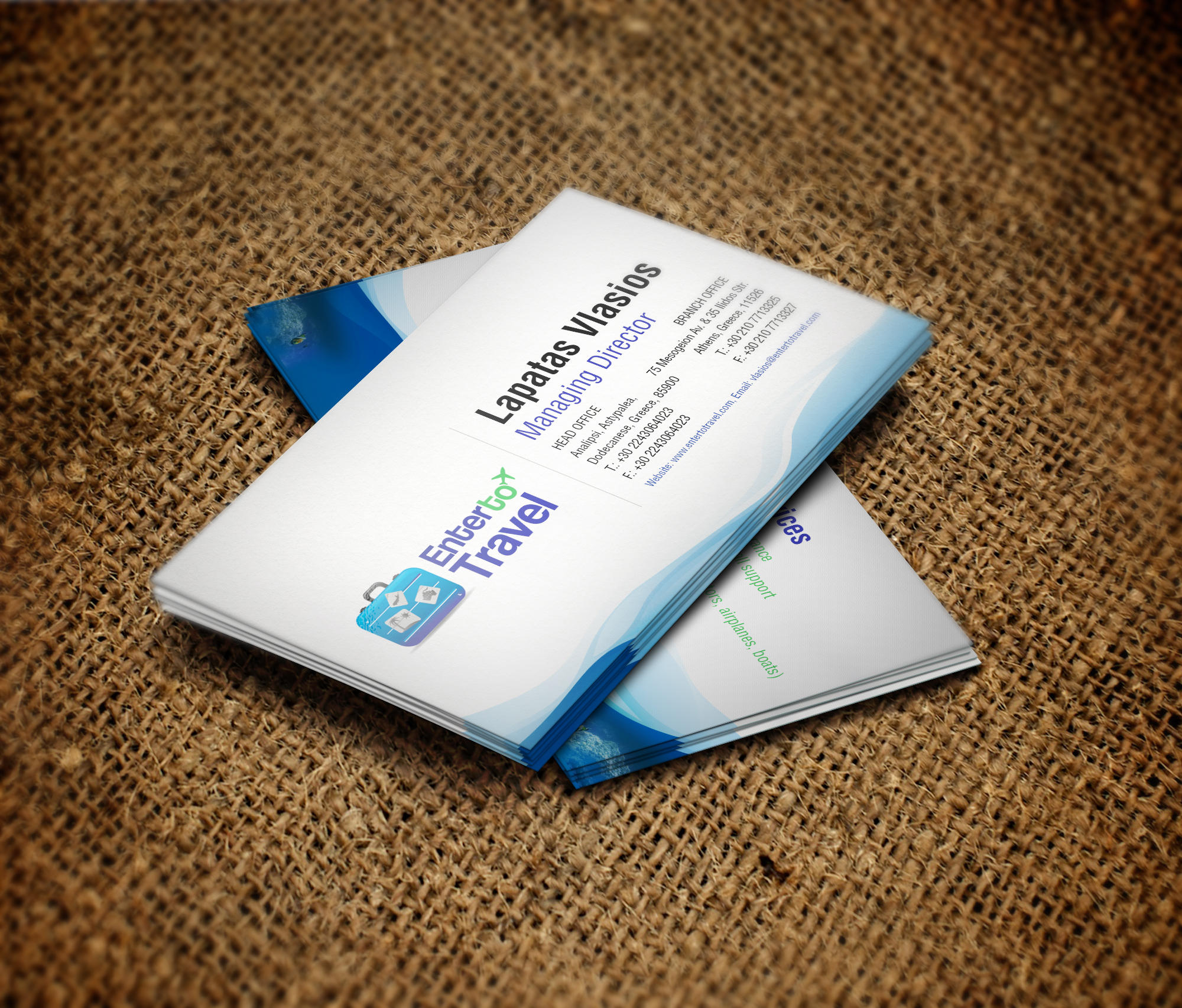 Enter To Travel Business Card Design by vasiligfx