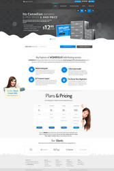 Canadian Hosting Company Web Design by vasiligfx