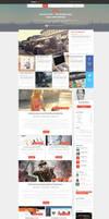 Blog Magazine Web Design by vasiligfx