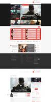 Online Gaming Store Web Design by vasiligfx