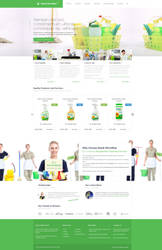 Cleaning Company Web Design by vasiligfx
