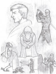 KOTOR 2 - sketches by ArtPolly