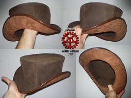 Steam Punk Leather Tophat 02 by Steam-HeART