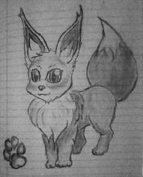 Charcoal Eevee by IndiAider