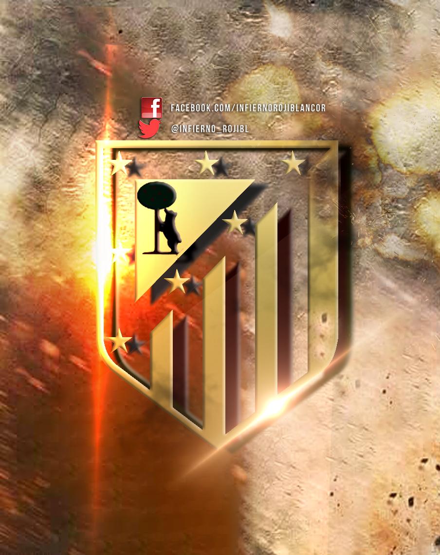 Escudo Atletico de Madrid by InfiernoRojiblanco