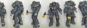 Vault-Tec Security Power Armor Papercraft by DaiShiHUN
