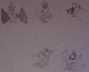 Wedlocke flying types by fluffyyen