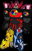 Dino Megazord (Power Rangers AU) by MF217