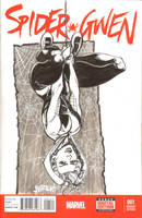 Spider Gwen Sketch Cover by J-WRIG