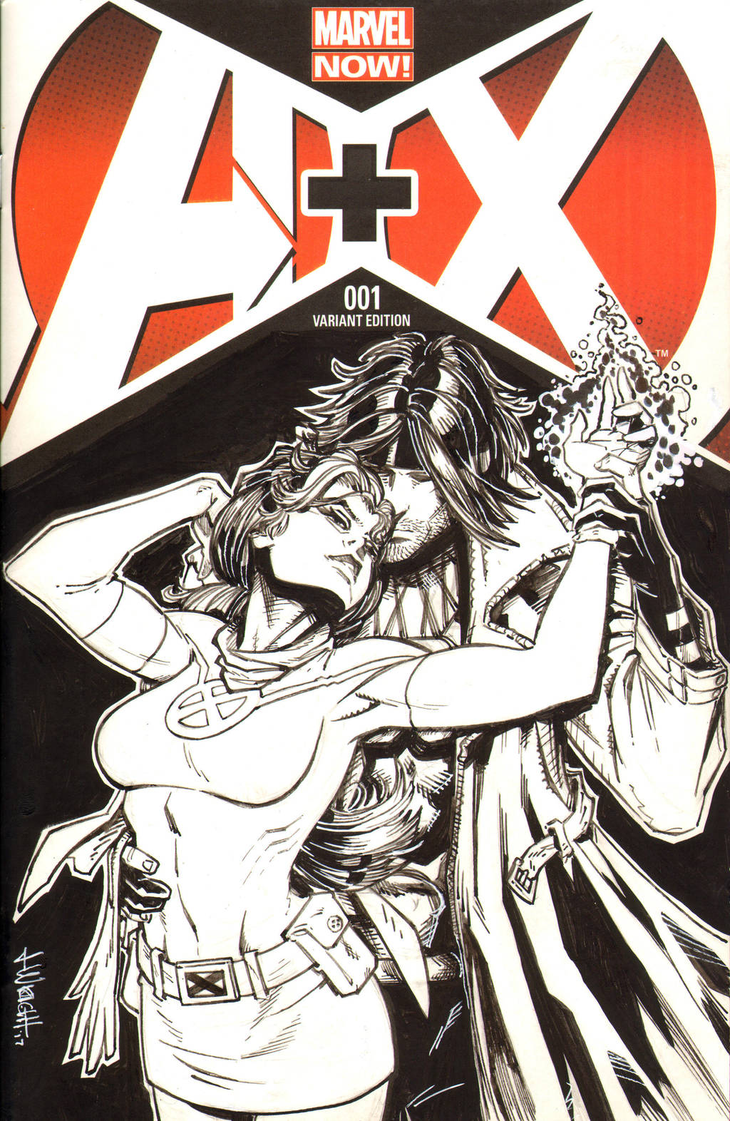 Rogue and Gambit Sketch Cover by J-WRIG