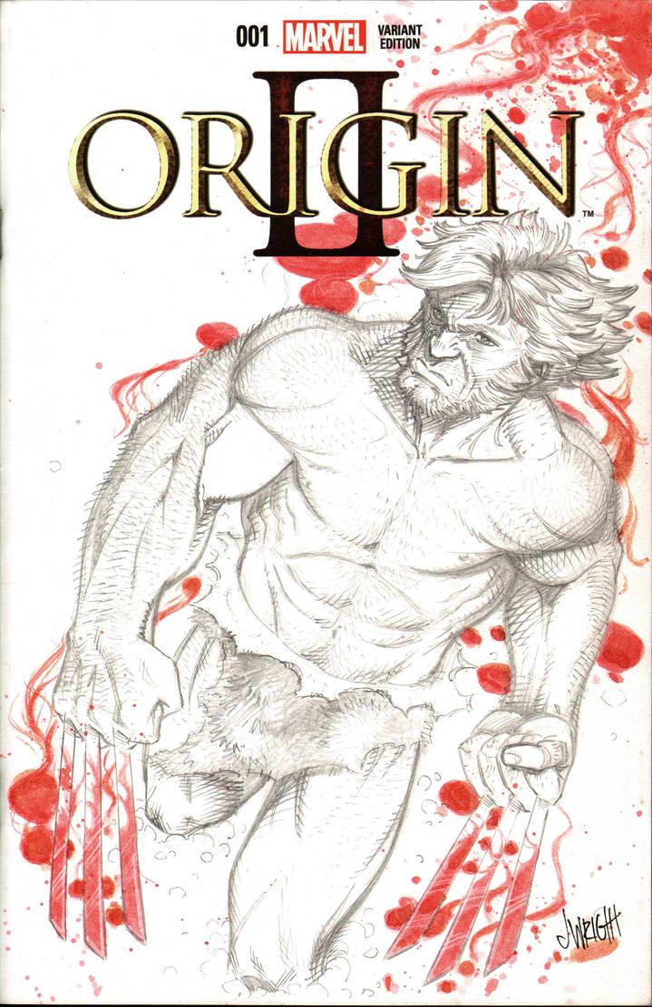 Wolverine Origin Sketch Cover by J-WRIG