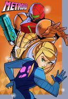 Metroid, JoJo's Bizarre Adventure by SplashBrush