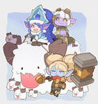 League of Legends, Poppy, Lulu and Tristana by SplashBrush