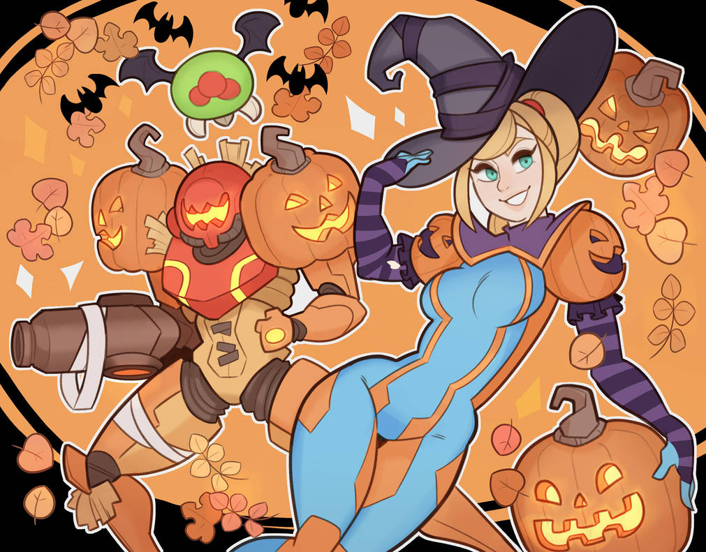 Metroid, Halloween by SplashBrush