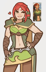 Paladins, Cassie by SplashBrush