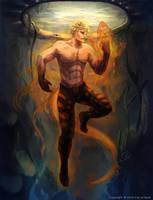 Fire Salamander by MilicaClk