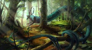In the forest Speedpaint by MilicaClk