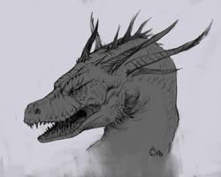 Dragon sketch by MilicaClk