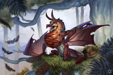 Fir Wyrm by MilicaClk