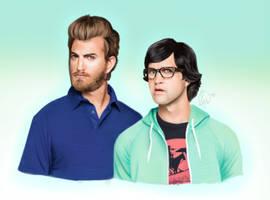Rhett and Link by AlpacaYouaLunch