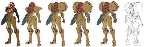Metroid Samus Aran suit design by torokun