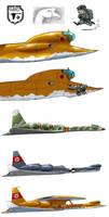 Heinkel HE-335 'Gans' by torokun