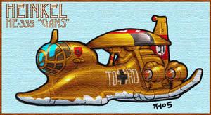 Heinkel HE-335 'Gans' SD Style by torokun
