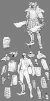 Kratos Armor design by torokun