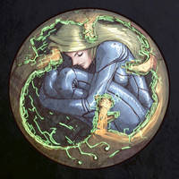 Samus in Morphball by torokun