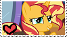 Sunset Shimmer Stamp by TheMoonRaven