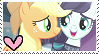 Rara x Applejack Stamp by TheMoonRaven