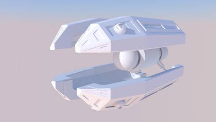 LightBulb Ship MkI - Clay by 9nin