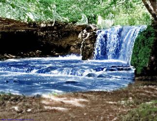 The waterfall - La cascata by Book-Art