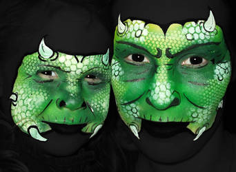 Monsters Face painting by Dolls-edd
