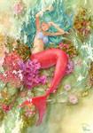 Mermaid is taking a nap by efira-japan