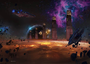 Daily Deviation : Space by Shin500
