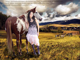 Girl and Horse 1 by CrowsNestPhotography