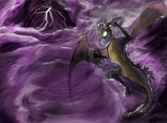 Dark Spyro at Sea by samuraiboys10