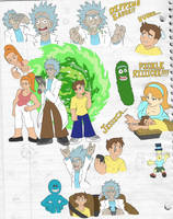 Rick and Morty sketchdump by MrMegaMattX
