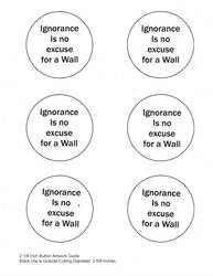 Ignorance is no excuse button template by SpotEtal